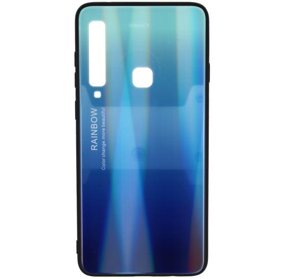 Glass case Rainbow SAMSUNG A9 2018 blue