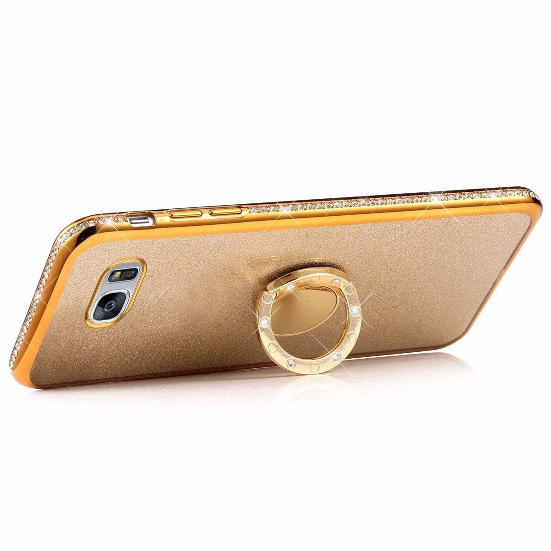 Case IPHONE 12 PRO Diamond Ring Glitter gold Złoty | cases ...