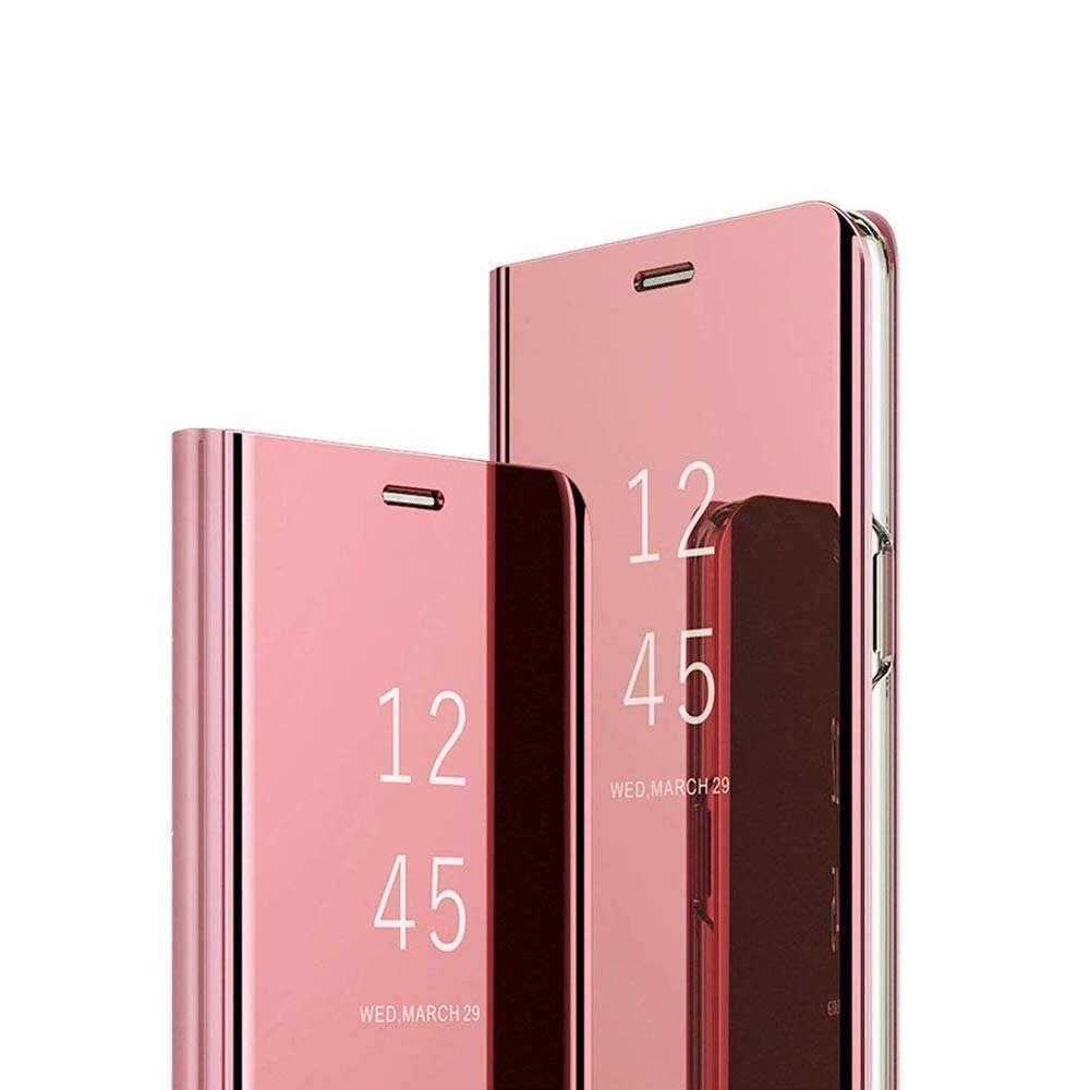 Clear View Cover case SAMSUNG A7 2018 pink Pink | CASES \ Flips / Book cases \ Clear view cover SAMSUNG \ GALAXY A7 2018 |