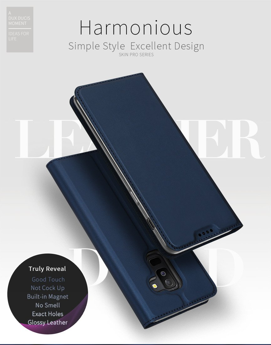 Dux Ducis Skin Leather Case Samsung A6 2018 Navy Blue Cases Pro Tools Iphone 6g 6p