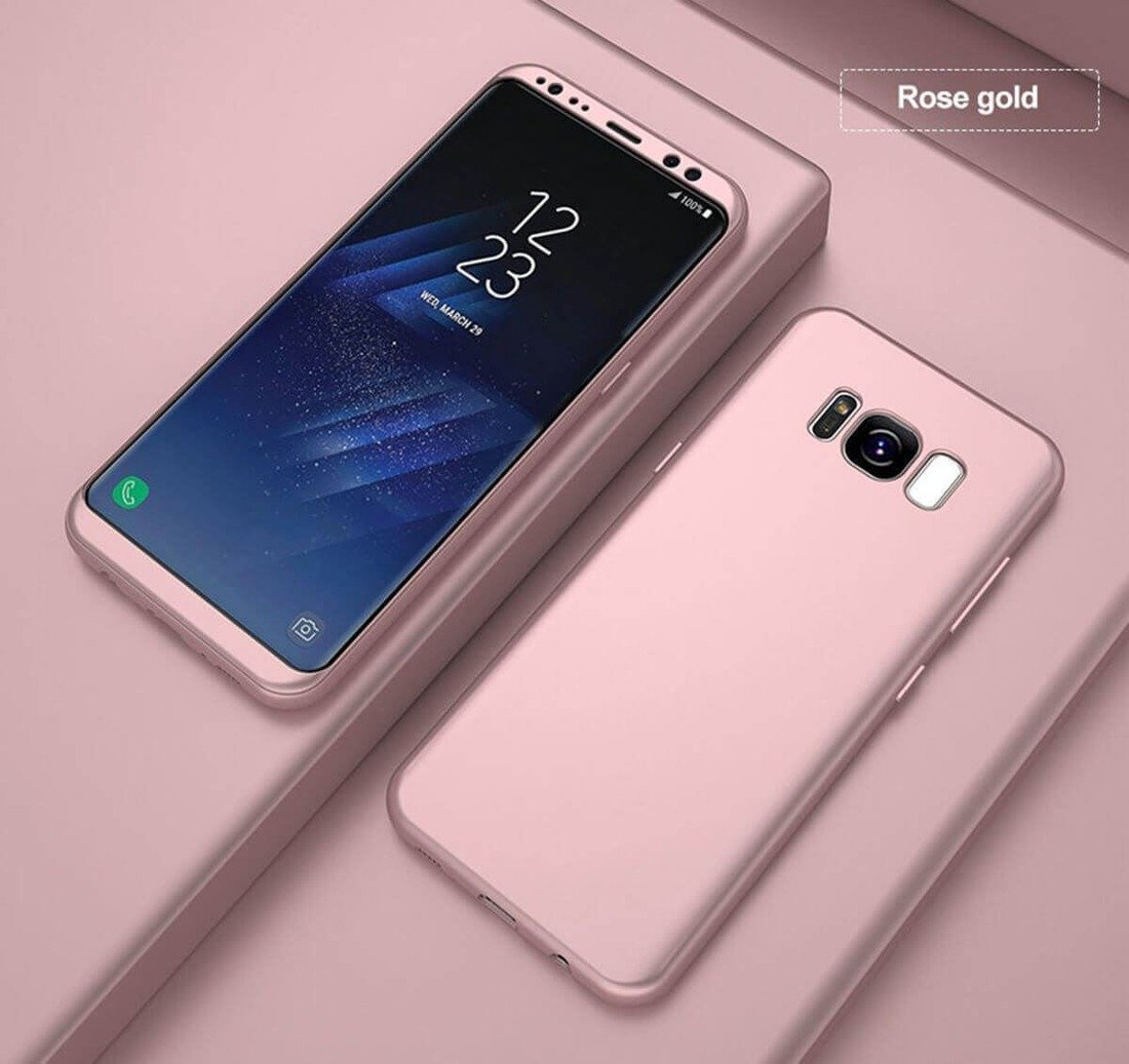 Full 360 Case SAMSUNG A7 2018 pink .