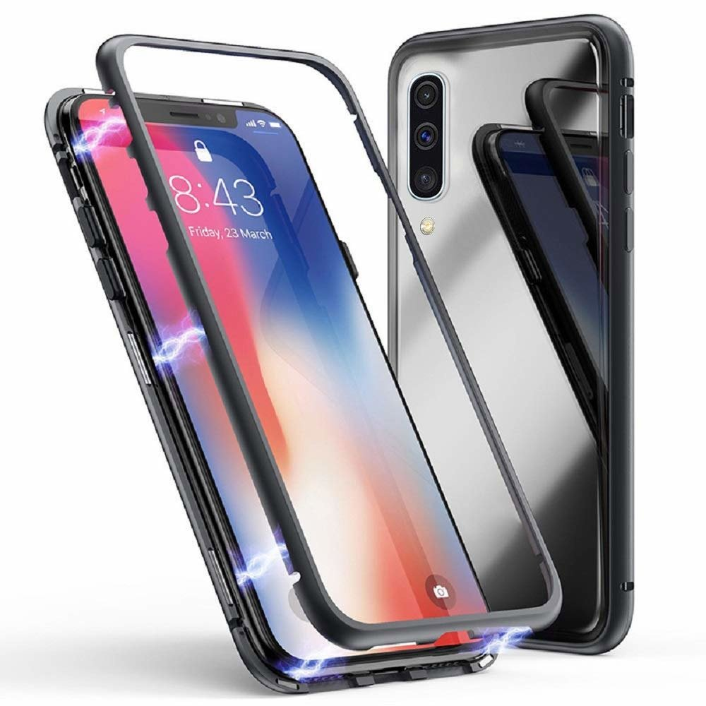 Magnetic 360 case SAMSUNG GALAXY A50 black | CASES \ Back