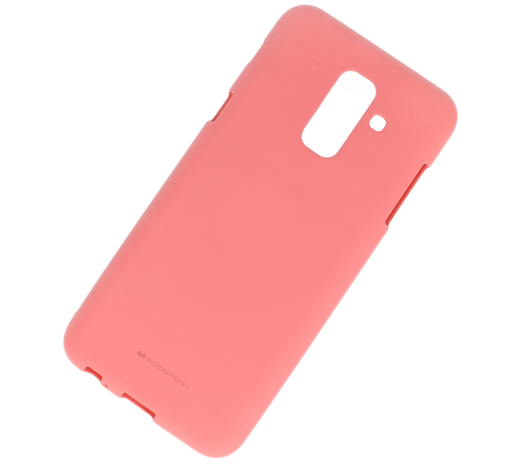 Soft Jelly Case Samsung A6 2018 Light Pink Cases Back Goospery Iphone X Style Lux Hotpink