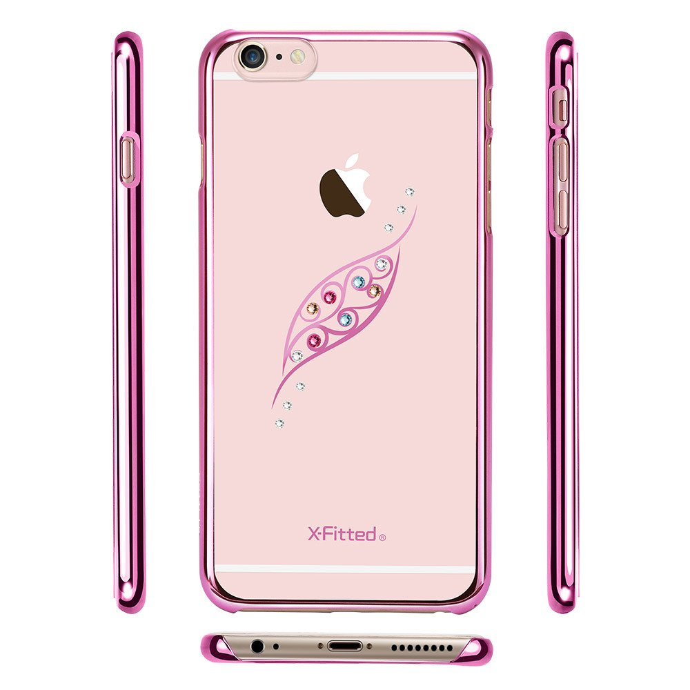 X FITTED SWAROVSKI IPHONE 6 LEAF PINK PPJYP