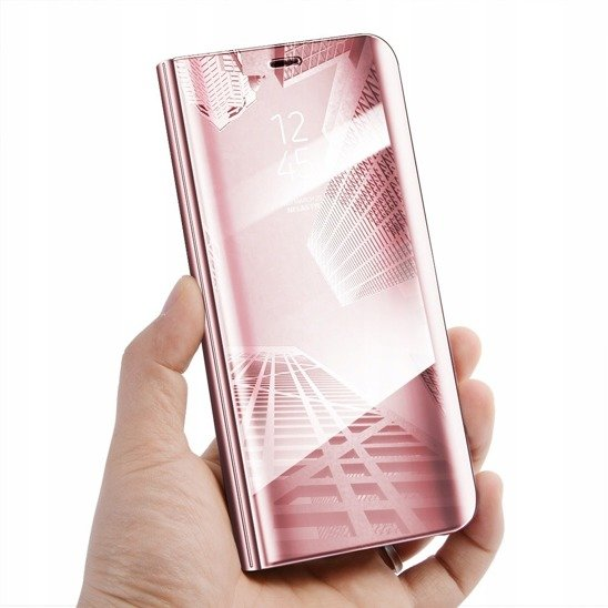 Case HUAWEI P40 LITE E Clear View Cover flip case pink