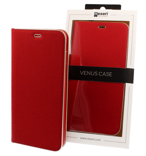 Case IPHONE 11 PRO MAX with a flip Nexeri Venus red