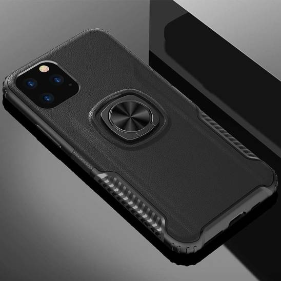 Case IPHONE 12 / 12 PRO Armored Armor Ring black