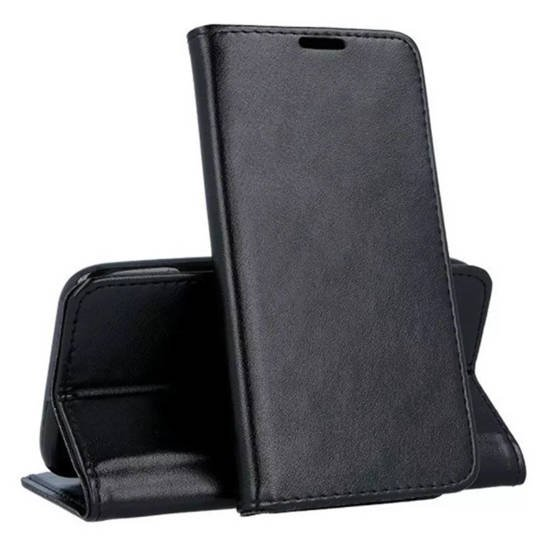 Case SAMSUNG GALAXY A12 Wallet with a Flap Eco Leather Magnet Book Holster black