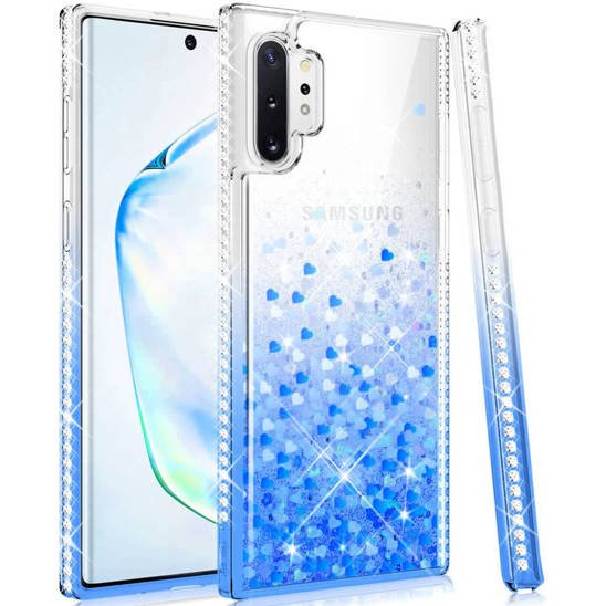 Case SAMSUNG GALAXY NOTE 10 LITE Diamond Liquid blue