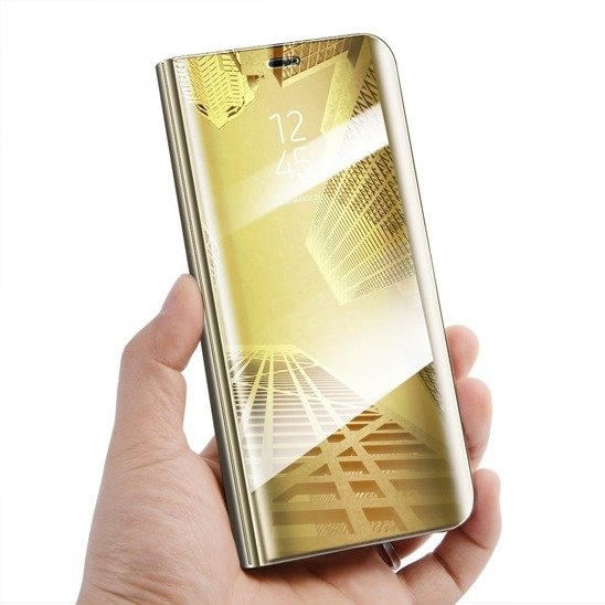 Case SAMSUNG GALAXY S10 LITE Clear View Cover flip case gold