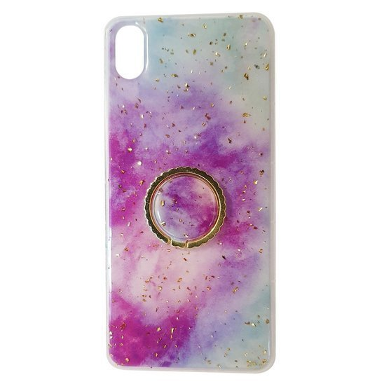 Case XIAOMI REDMI NOTE 9 Marble Ring Holder purple-blue
