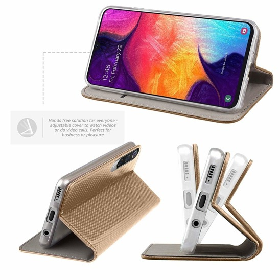 Flip Magnet case LG G8S ThinQ gold