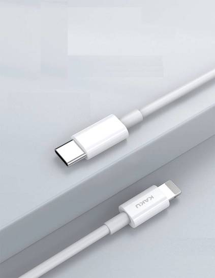 KAKU KSC-507 FEICHONG PD fast charging  data cable TYP-C/LIGHTNING White