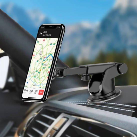 Magnetic Car Holder for Windshield / Dashboard Telescopic Arm Adjustable KAKU (KSC-473A) black