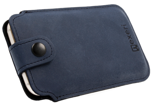 Nexeri Leather Pockert XXL+ SAMSUNG GALAXY A70 / A80 / NOTE 9 navy blue