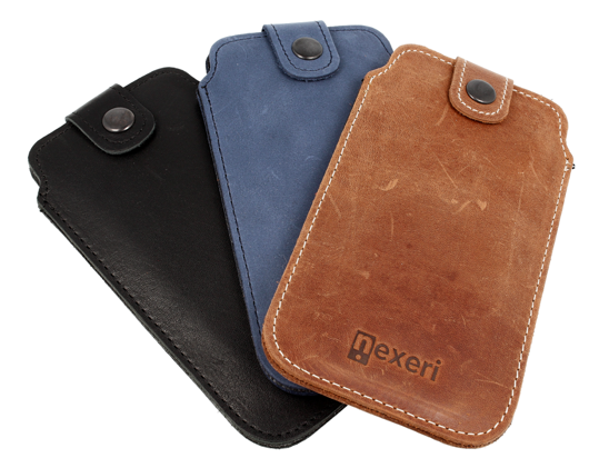 Nexeri Leather Pocket case XL IPHONE X/XS / SAMSUNG GALAXY S6 brown
