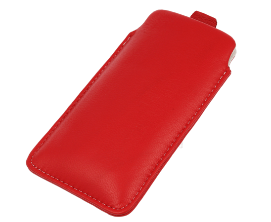 Sleeve leather case SAMSUNG A5/ S5/ S7/ LG Q6/ HUAWEI HONOR 7/ XPERIA Z/ XIAOMI REDMI 4A red