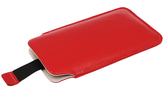 Vertical Leather bar Vena SAMSUNG S6500/ LG L3 red