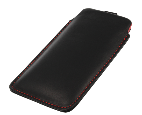 Vertical Leather bar  Vena SONY ERICSSON  X10 MINI PRO red inside