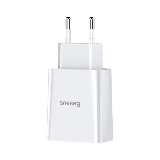 Wall charger 10.5W 2A 2x USB Baseus Speed Mini Dual USB Charger EU (CCFS-R02) white