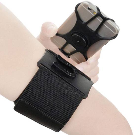 Wrist band / arm strap 360° for phone black