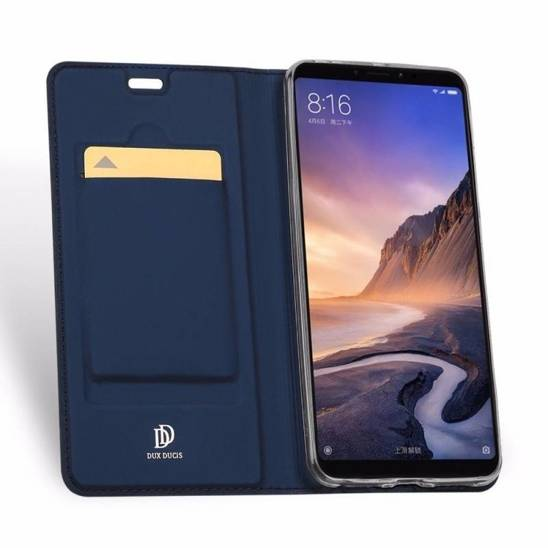 XIAOMI REDMI K30 / XIAOMI POCO POCO X2 Case with Flip Dux Ducis Leather Skin Leather navy blue
