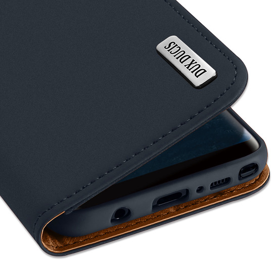 Etui Dux Ducis Wish Leather Huawei Mate 10 granatowe