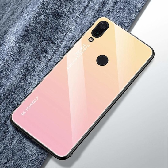 Etui Glass XIAOMI REDMI NOTE 7 różowe