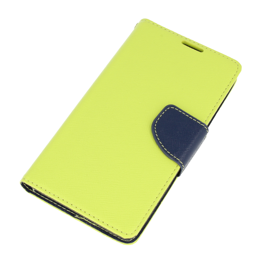 Etui portfel Fancy LG X SCREEN limonkowe